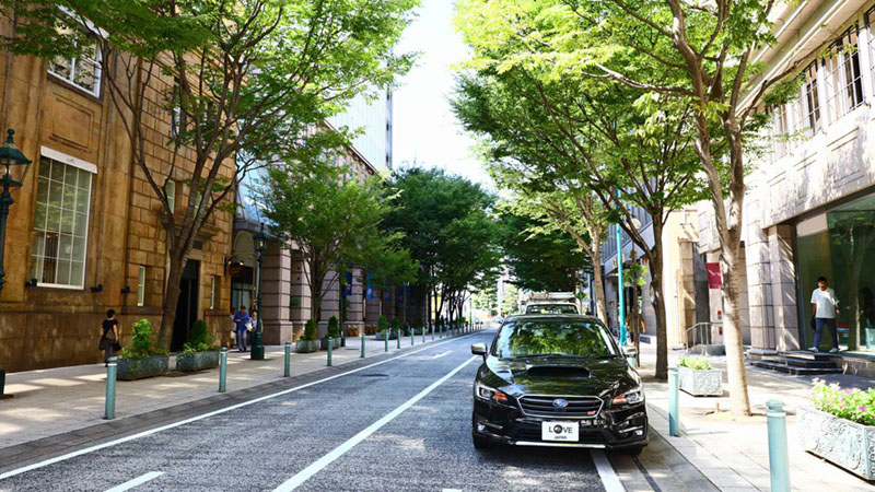 近代洋風建築が建ち並ぶ上品で美しい街並み