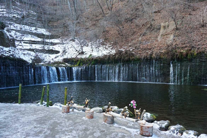 ライトアップイベントも開催される癒しの滝