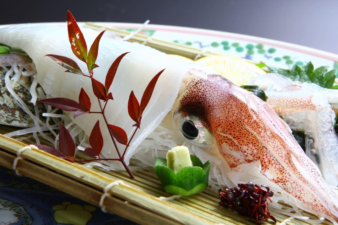 角島の沖合いで獲れる「特牛イカ」。こっといいかと読みます