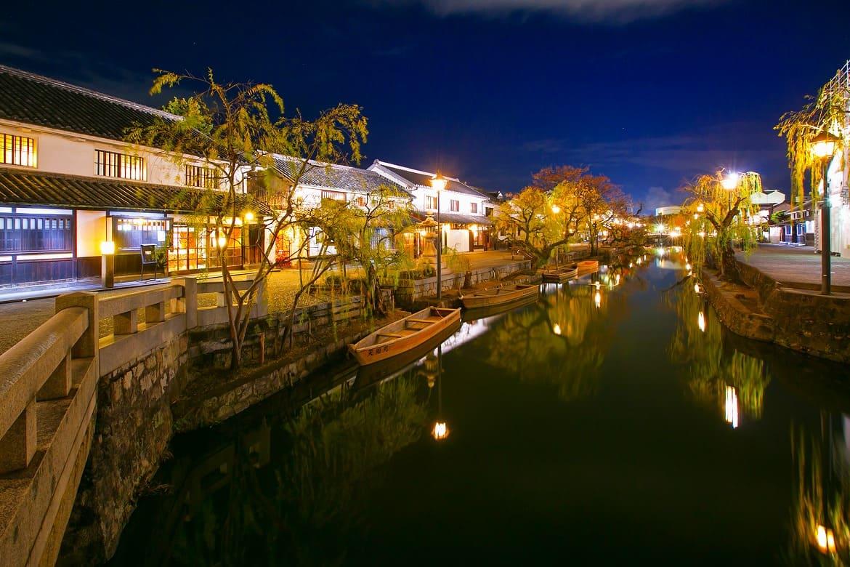 江戸幕府の「天領」である倉敷で夜までゆったり
