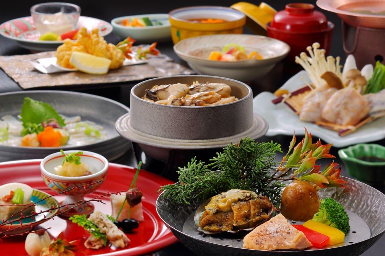 和食の技を凝らした美味なる料理。福島の旬を心ゆくまで