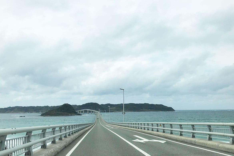 話題の橋で、海と空の広さに感動