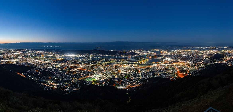 200度を超える大パノラマの絶景「皿倉山」