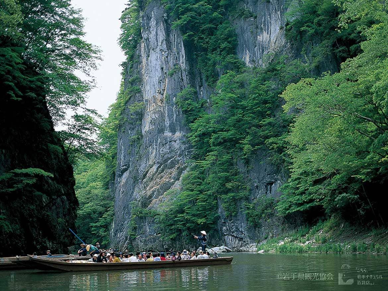幻想的な渓谷美にうっとり「猊鼻渓舟下り」