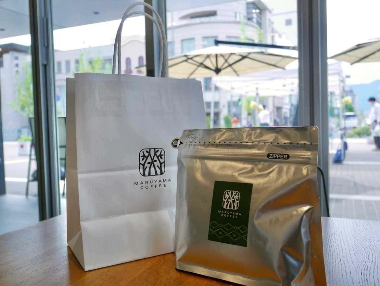 「丸山珈琲」の各店舗限定オリジナルブレンドコーヒーは、特別感のあるお土産