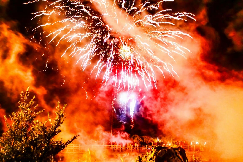 ライトアップや冬花火…冬の雲仙は幻想的