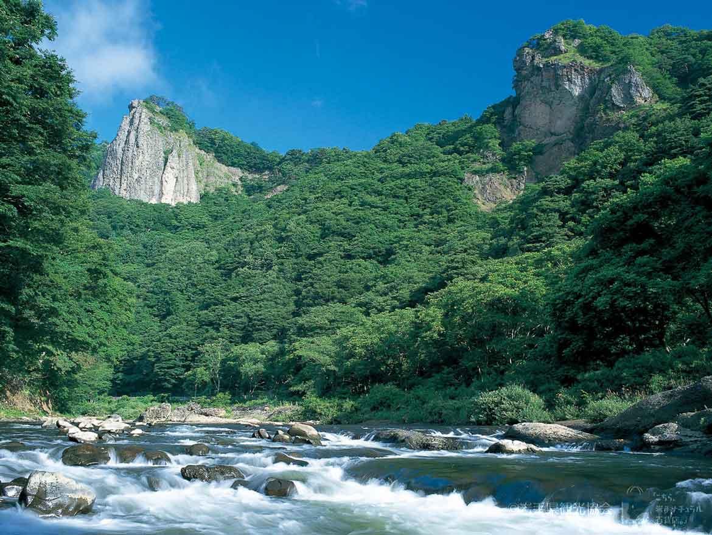 迫力ある景観美「馬仙峡(ばせんきょう)」