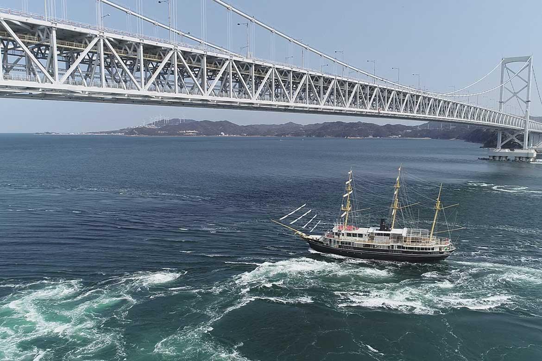 NEW咸臨丸が登場!鳴門のうず潮を見に行く快適船旅「うずしおクルーズ」