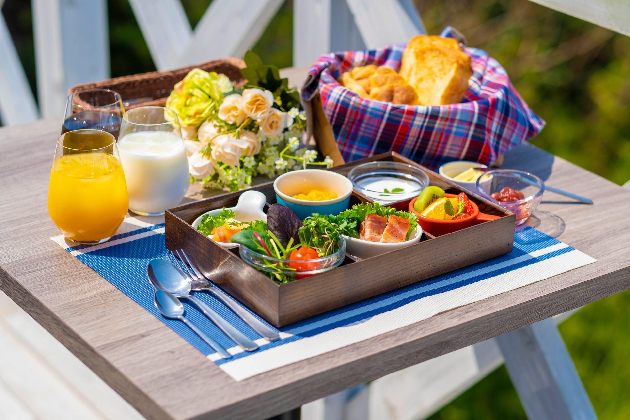 ハワイアンなカフェで朝食を