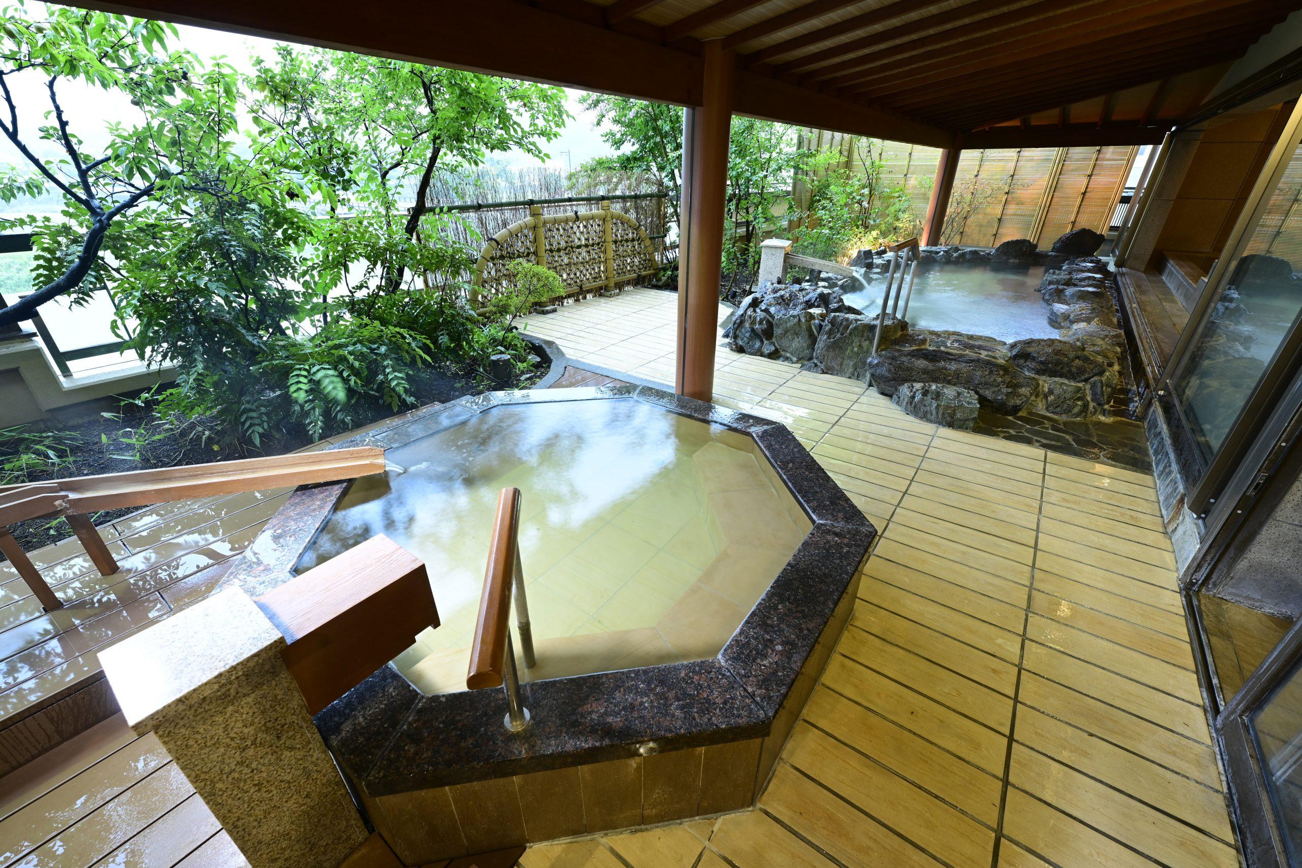 2つの大浴場・露天風呂で絶景を望む