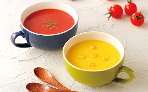 濃厚な味わいの北海道産野菜スープ